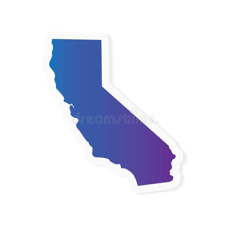 Mapa de Califórnia do inclinação ilustração royalty free