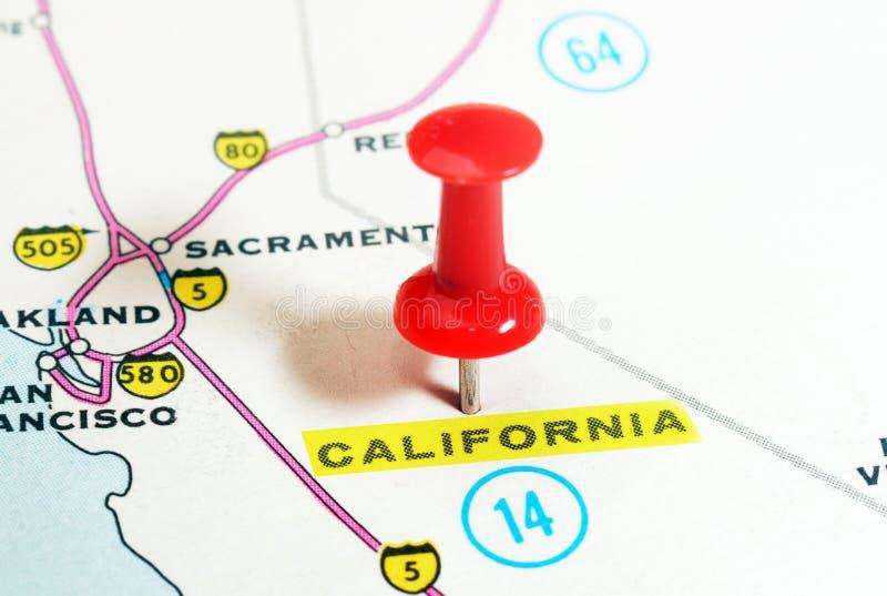 Mapa de California los E.E.U.U. imagen de archivo libre de regalías