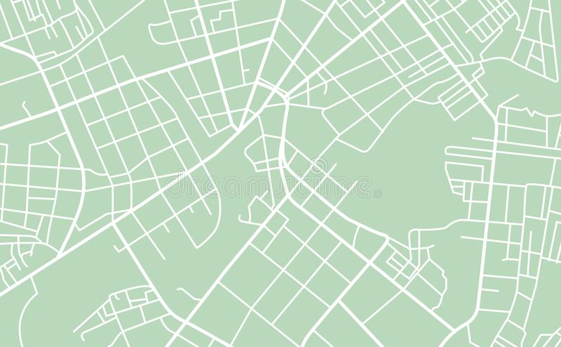 Mapa de calle de la ciudad ilustración del vector