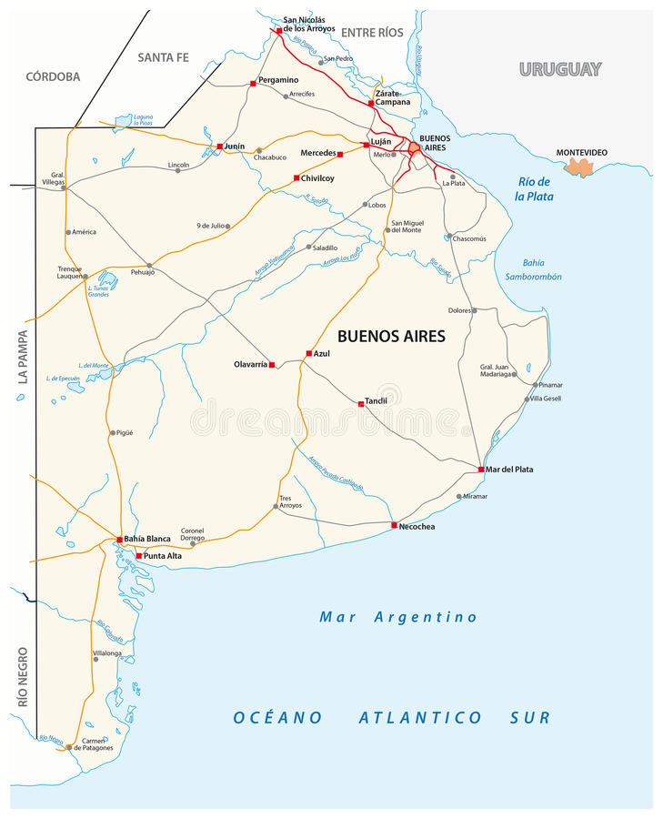 Mapa de camino de la provincia de argentina de buenos aires download mapa de camino de la provincia de argentina de buenos aires ilustracin del vector thecheapjerseys Images