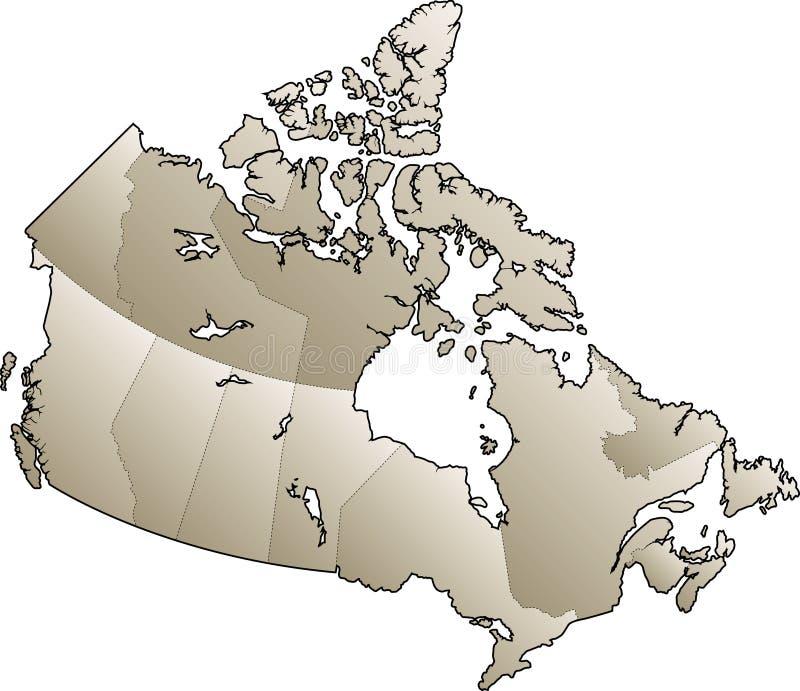 Mapa de Canadá ilustração do vetor