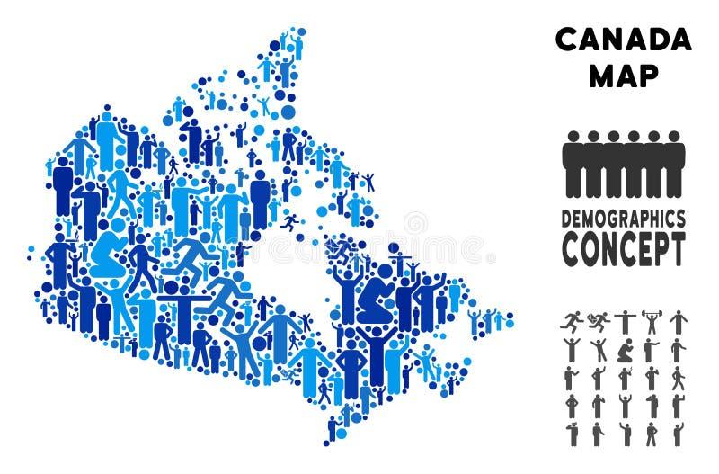 Mapa de Canadá del Demographics stock de ilustración