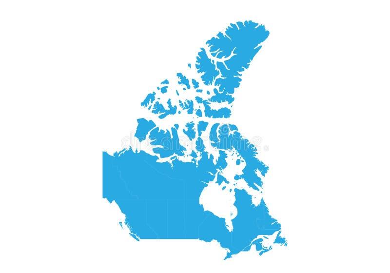 Mapa de Canadá Mapa detalhado alto do vetor - Canadá ilustração royalty free