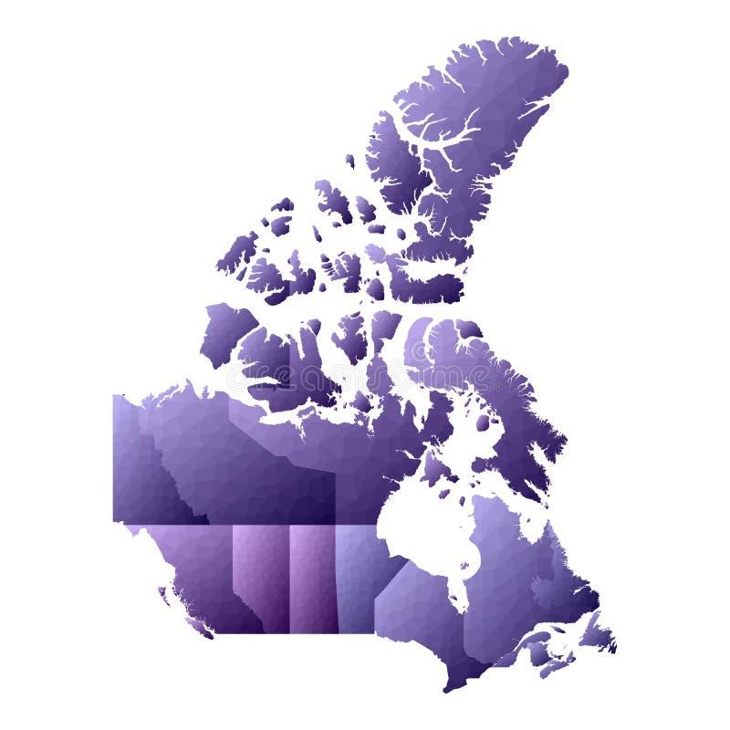 Mapa de Canad? ilustração royalty free