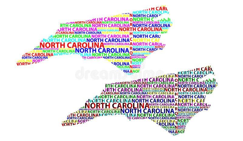 Mapa de Carolina del Norte - ejemplo del vector stock de ilustración