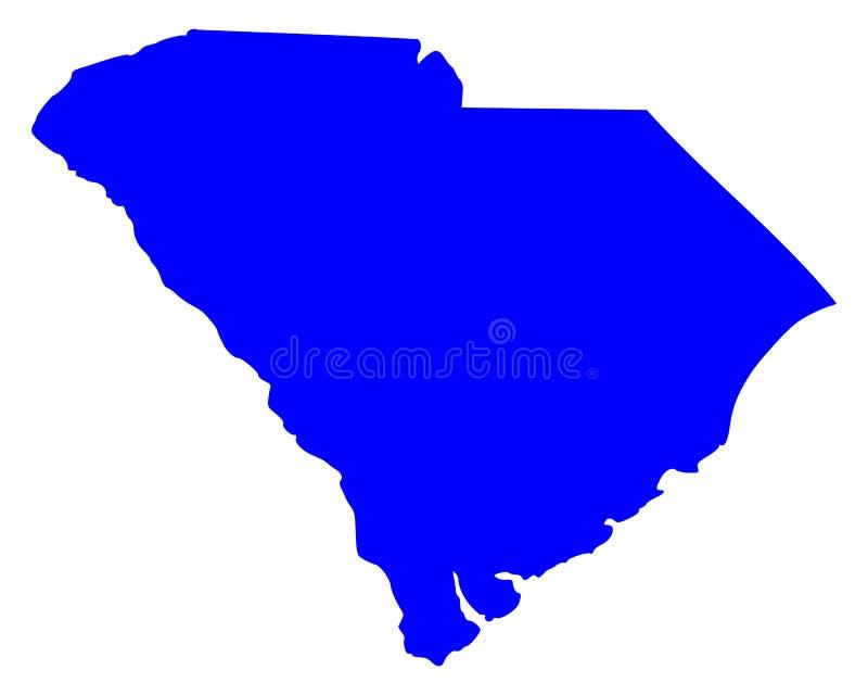 Mapa de Carolina del Sur ilustración del vector