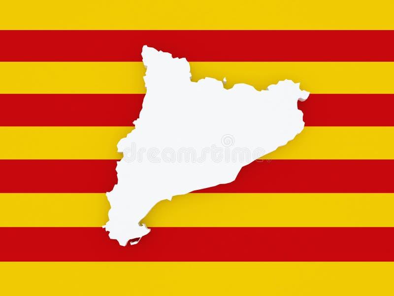 Mapa de Catalonia ilustração do vetor