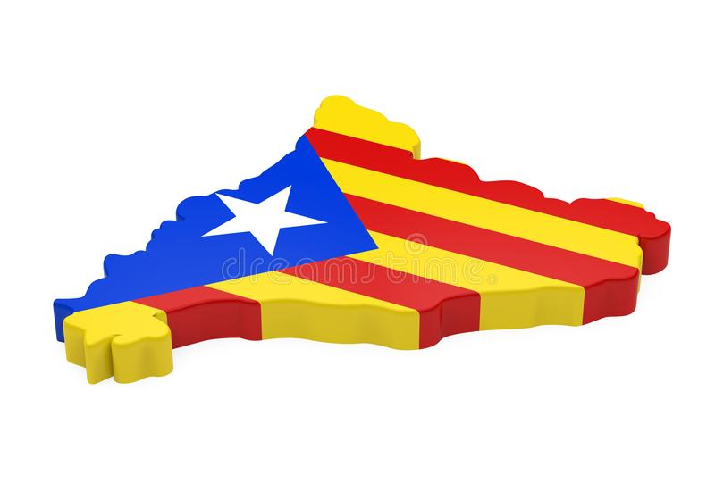 Mapa de Catalonia isolado ilustração royalty free