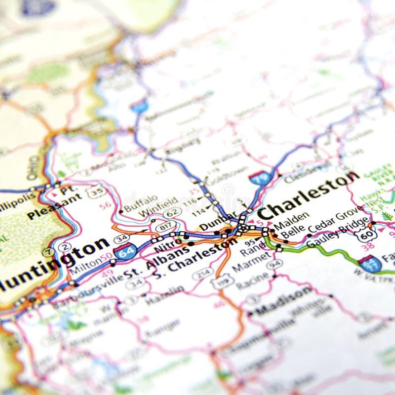 Mapa de Charleston foto de stock royalty free