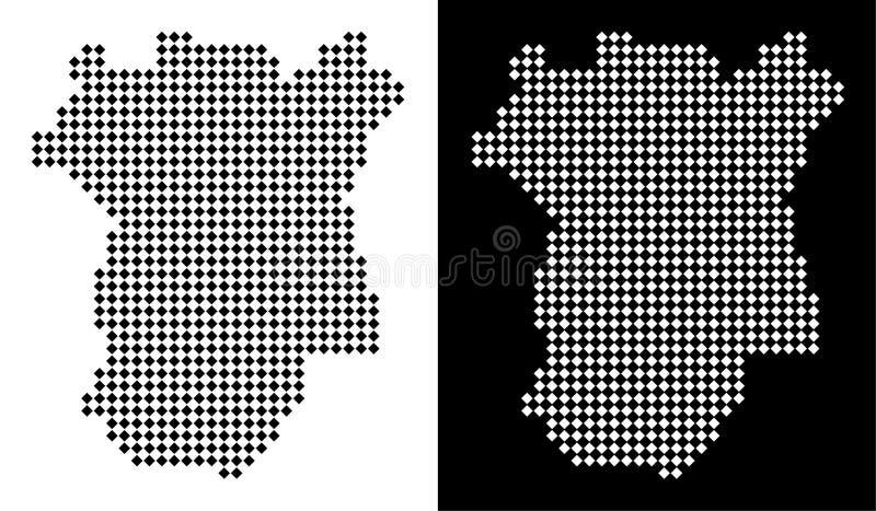 Mapa de Chechnya do pixel ilustração stock