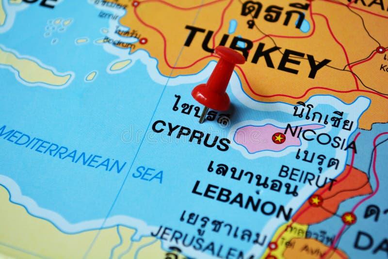 Mapa de Chipre imagem de stock