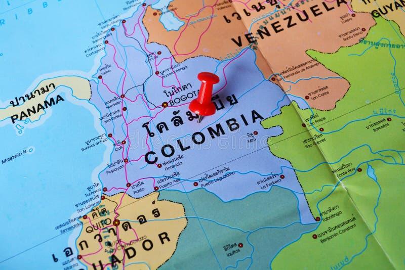 Mapa de Colombia fotografía de archivo