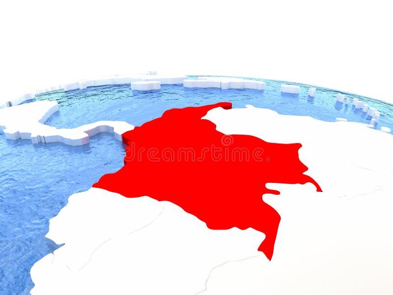 Mapa De Colombia En El Globo Stock de ilustracin Ilustracin de