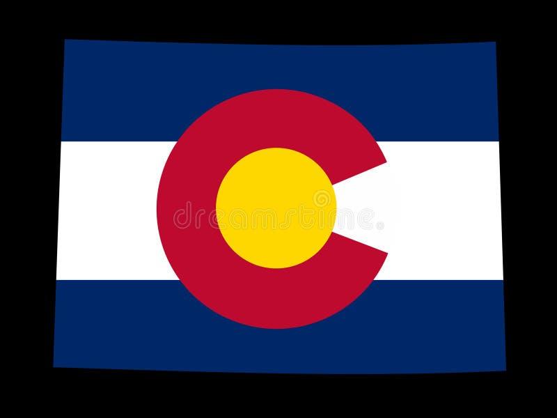 Mapa de Colorado ilustração stock