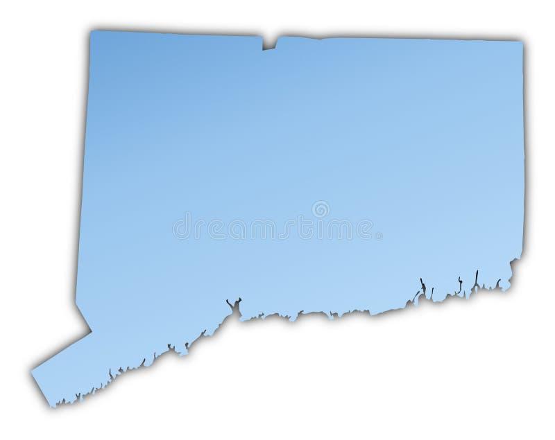 Mapa de Connecticut (EUA) ilustração royalty free