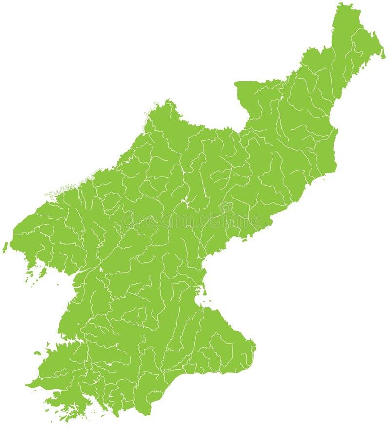 Mapa de Coreia norte ilustração do vetor
