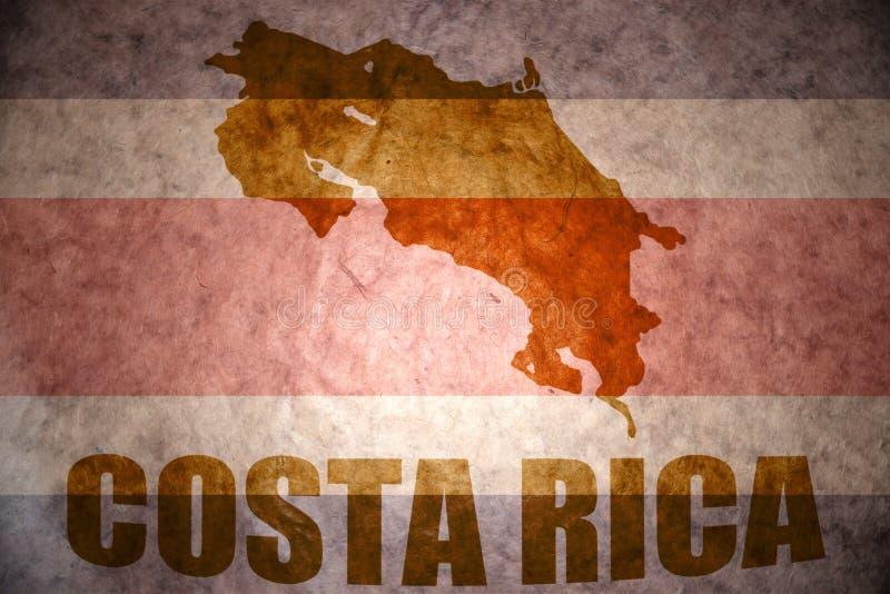 Mapa de Costa-Rica do vintage ilustração royalty free