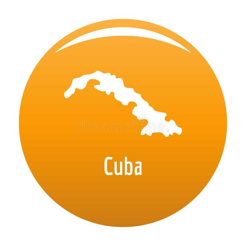 Mapa de Cuba en simple negro libre illustration