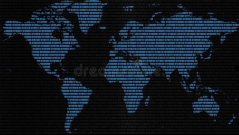 Mapa de dados do mundo imagem de stock