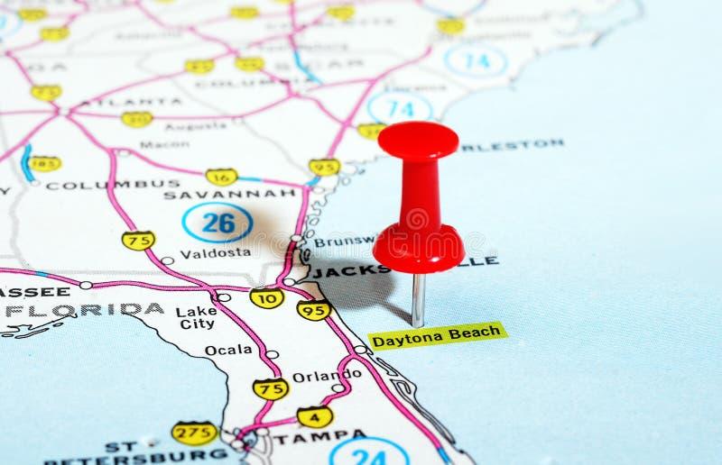Mapa de Daytona Beach la Florida los E.E.U.U. fotografía de archivo libre de regalías