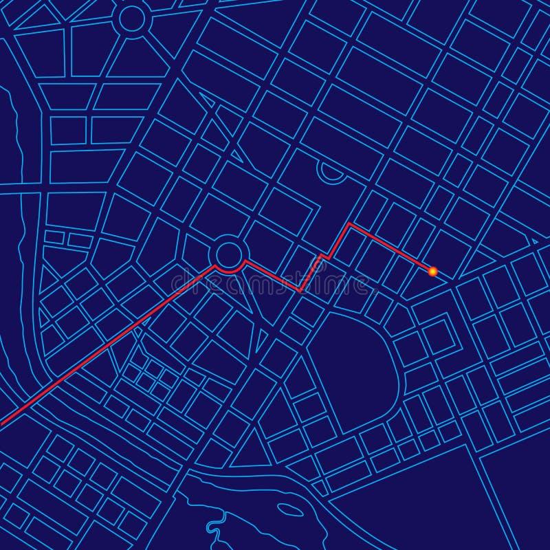 Mapa de Digitas que segue com GPS ilustração do vetor