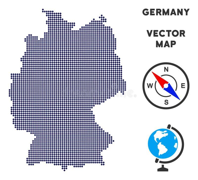 Mapa de Dot Germany ilustração royalty free