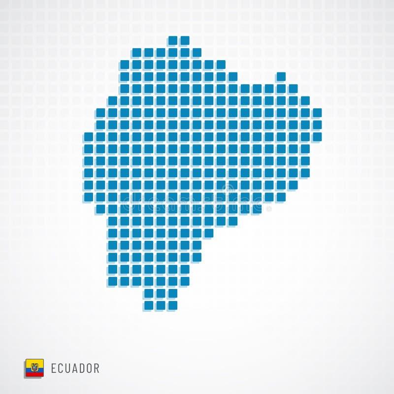 Mapa de Equador e ícone da bandeira ilustração do vetor