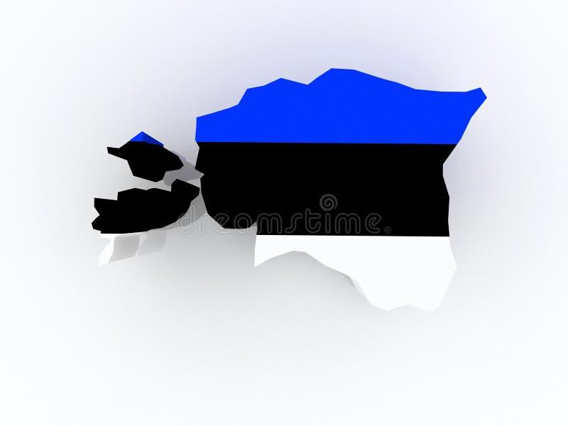 Mapa de Estonia. ilustración del vector