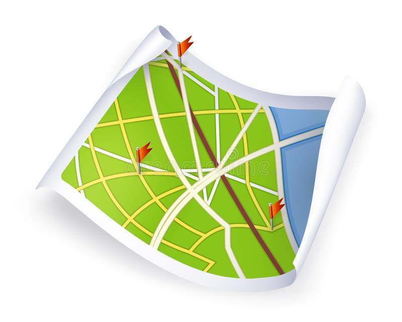 Mapa de estrada ilustração do vetor