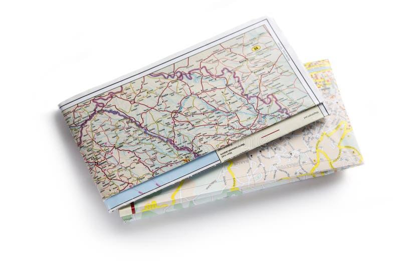 Mapa de estrada imagens de stock