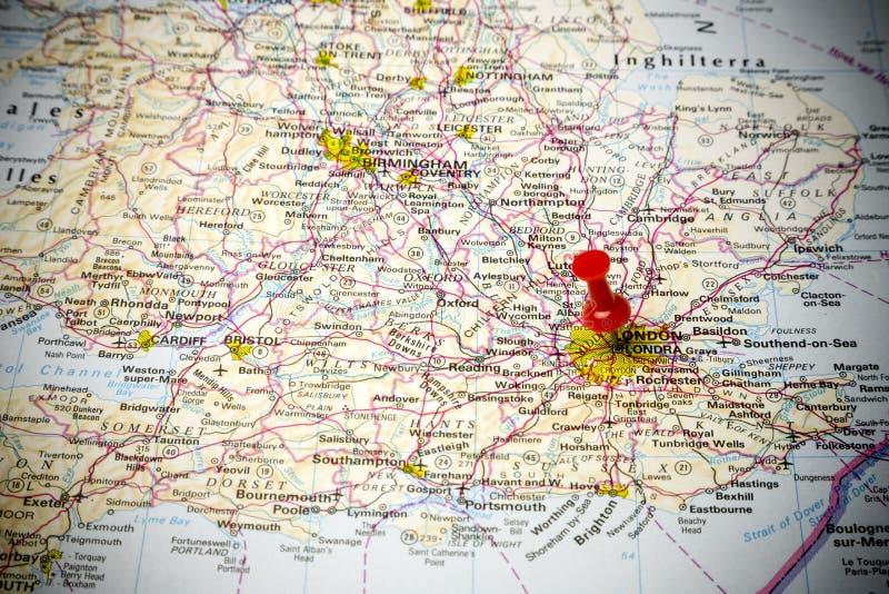 Mapa de estradas imagem de stock