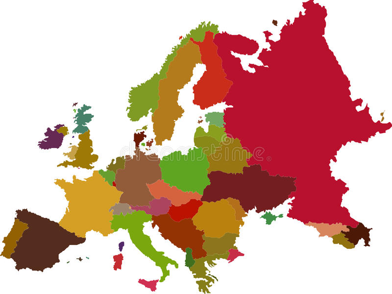 Mapa de Europa libre illustration