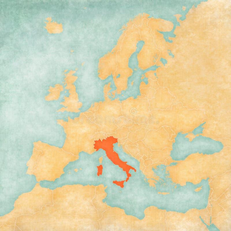 Mapa de Europa - Italia ilustración del vector