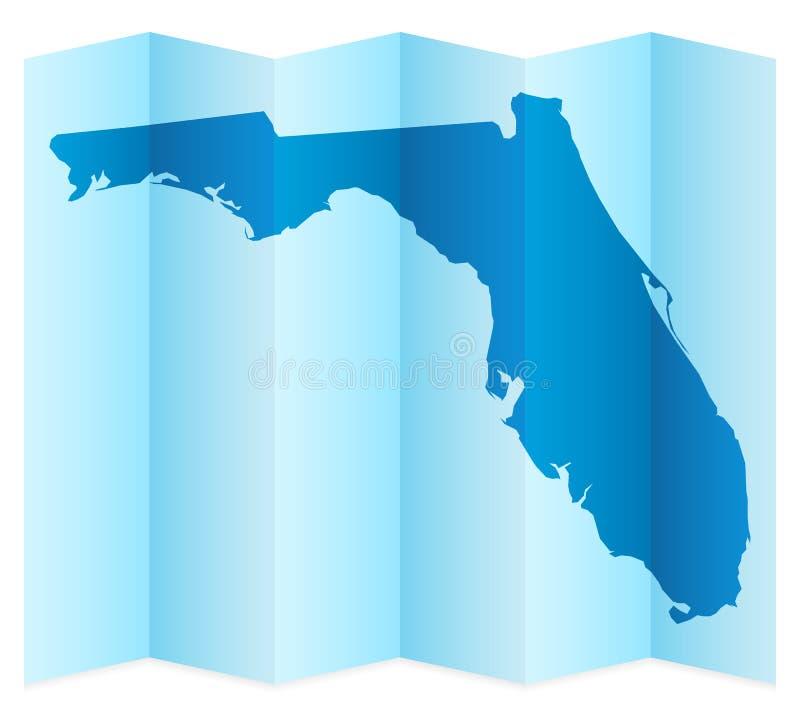 Mapa de Florida ilustração do vetor