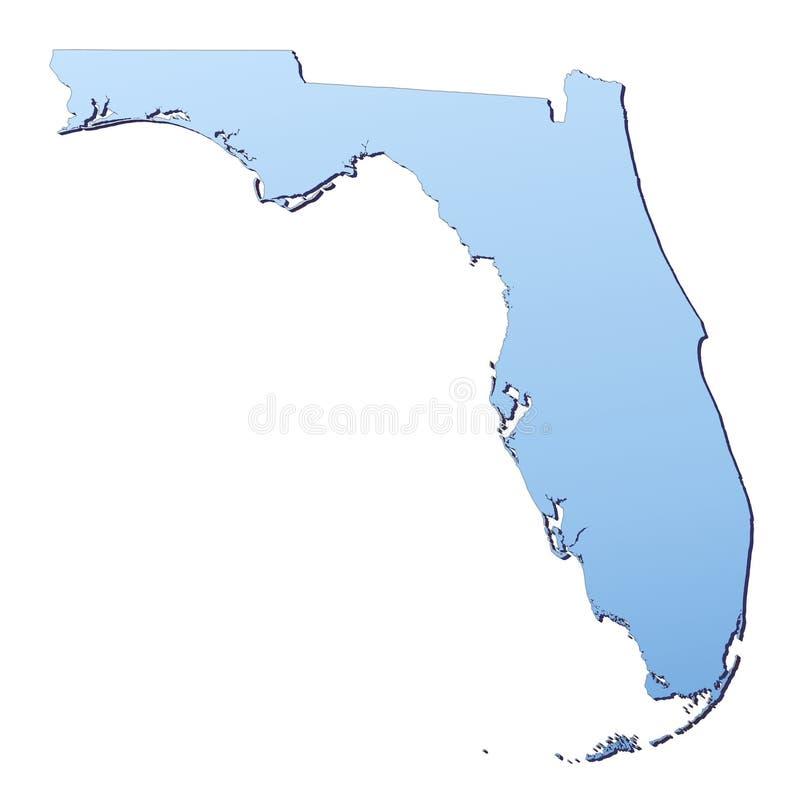 Mapa de Florida ilustração stock
