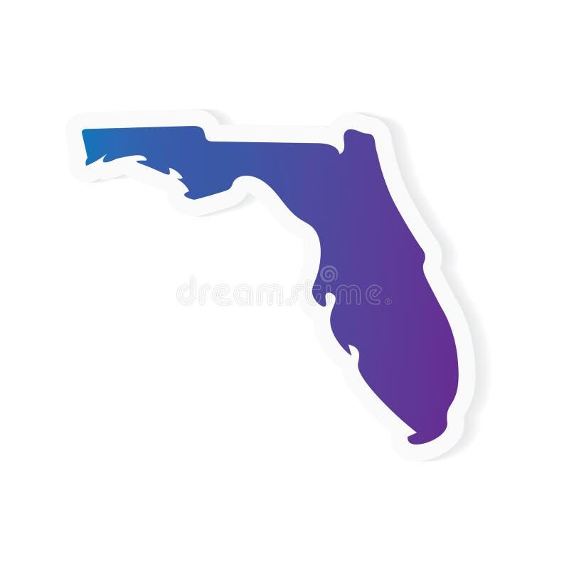 Mapa de Florida do inclinação ilustração do vetor
