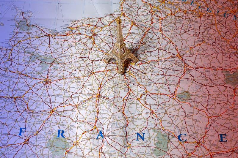Mapa De France Em Cores Nacionais Fotografia de Stock