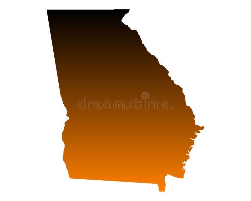 Mapa de Geórgia ilustração do vetor