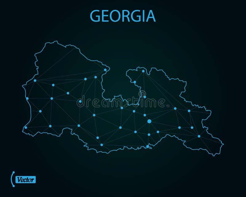 Mapa de Geórgia Ilustração do vetor Mapa de mundo ilustração royalty free