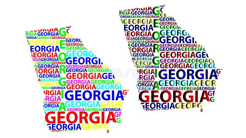 Mapa de Georgia U S estado - ejemplo del vector ilustración del vector