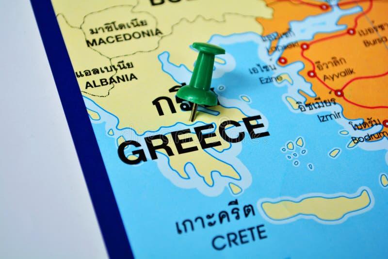Mapa de Grécia fotografia de stock
