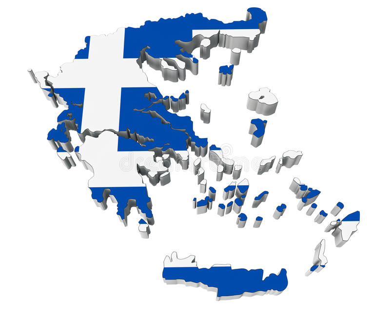 Mapa de Grecia stock de ilustración