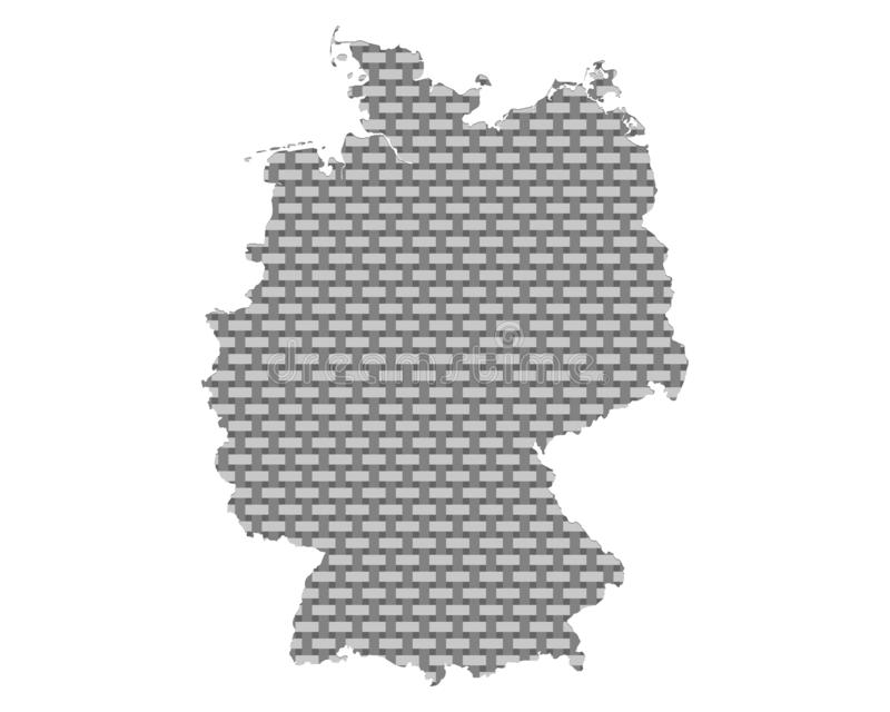Mapa de grosseiro de Alemanha engrenado ilustração stock