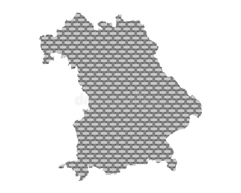 Mapa de grosseiro de Baviera engrenado ilustração do vetor