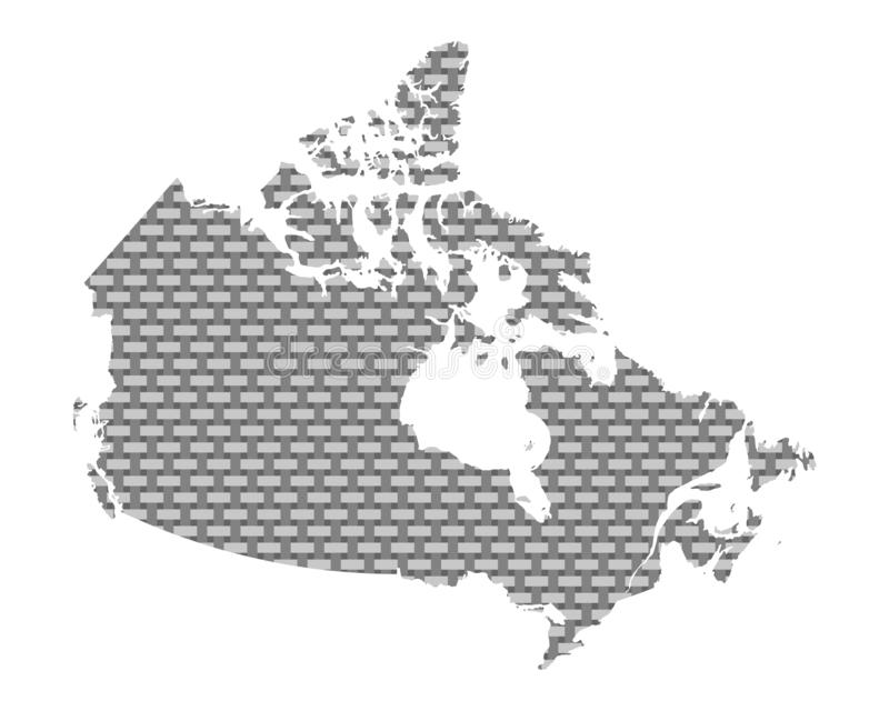 Mapa de grosseiro de Canadá engrenado ilustração stock