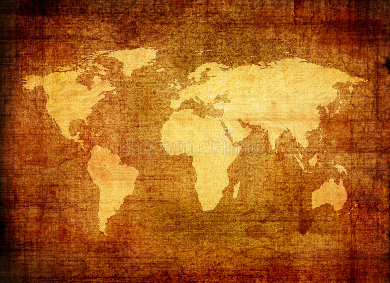 Mapa de Grunge do mundo ilustração royalty free