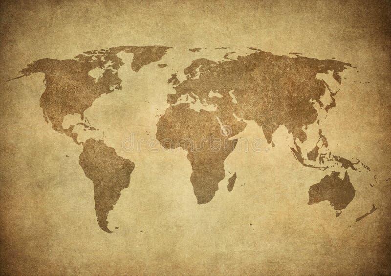 Mapa de Grunge do mundo fotos de stock royalty free