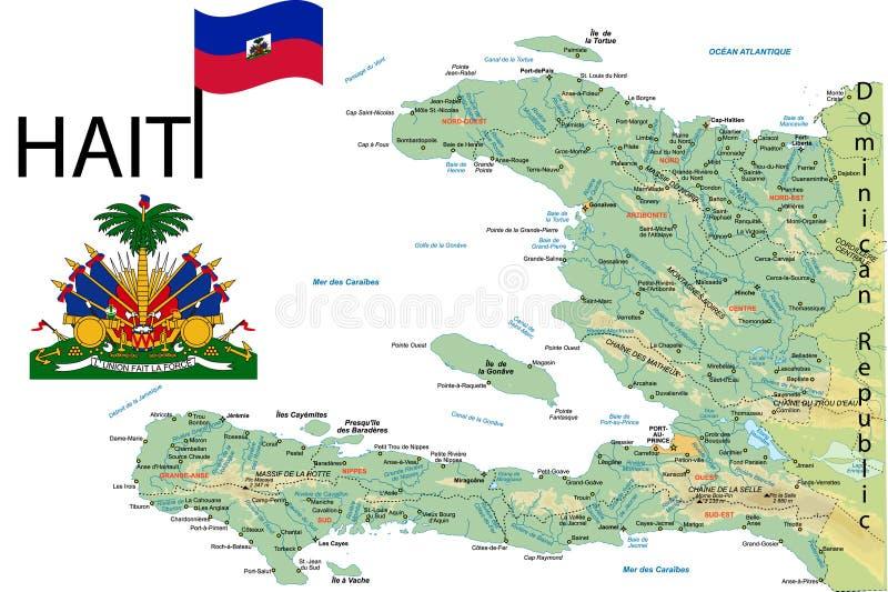 Mapa de Haiti. ilustração stock