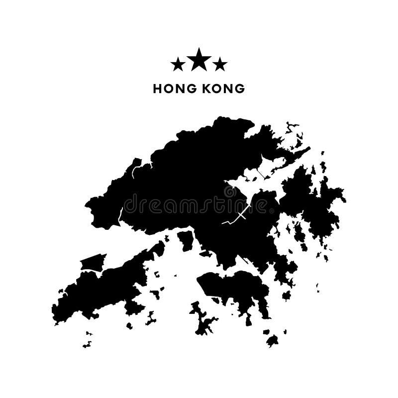 Mapa de Hong Kong Ilustração do vetor ilustração do vetor