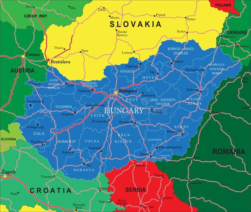 hungria mapa Mapa de Hungria ilustração do vetor. Ilustração de fundo   31923391 hungria mapa